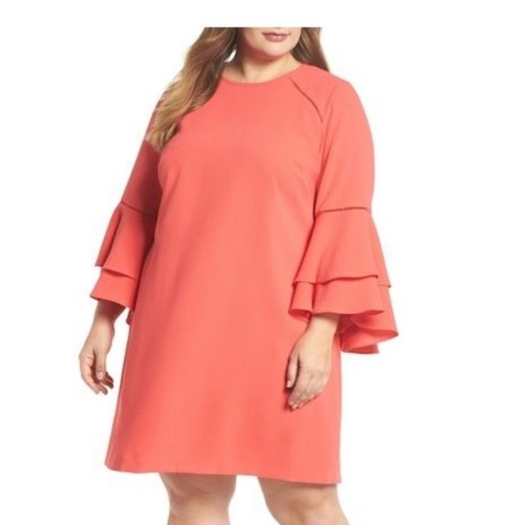 30d5253696cc Chelsea28 Dresses | Nwt Coral Bell Sleeve Shift Dress | Poshmark